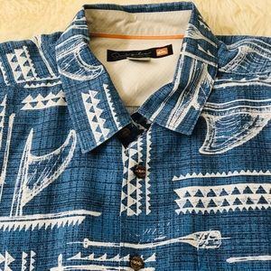 Quicksilver men's Hawaiian style shirt large🏝
